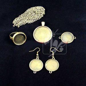 ست گردنبند، دستبند، گوشواره و انگشتر دایره ای